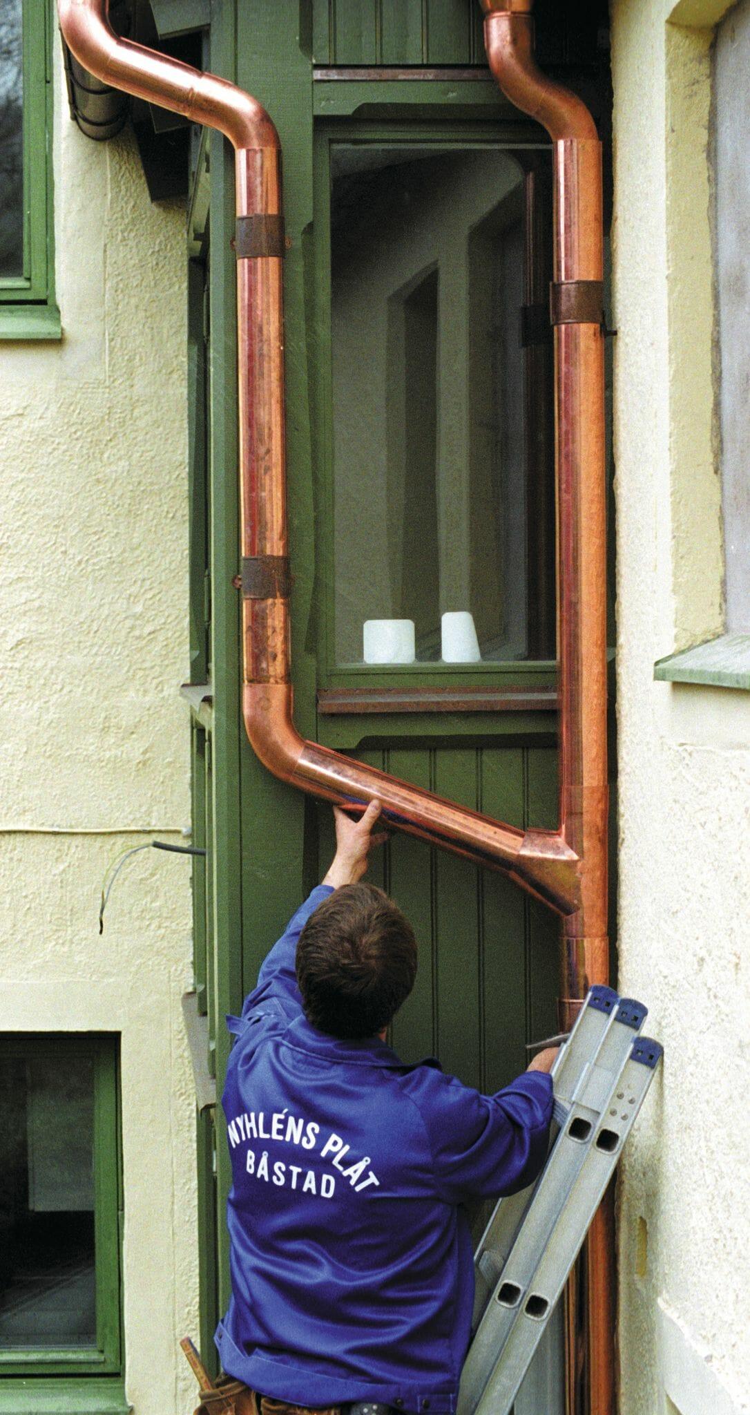 copper metal gutter 2